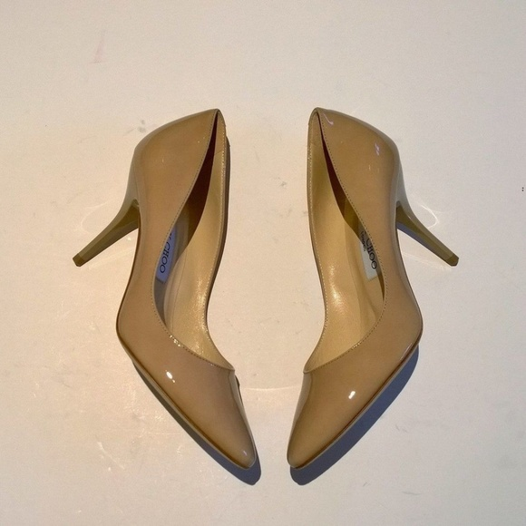 5d807c0377 Jimmy Choo Shoes | New Mei Nude Patent Heels | Poshmark